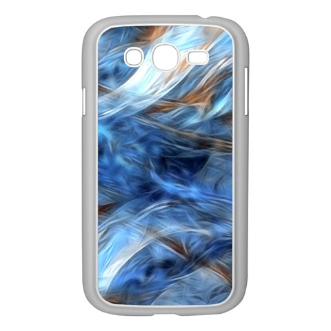 Blue Colorful Abstract Design  Samsung Galaxy Grand DUOS I9082 Case (White)