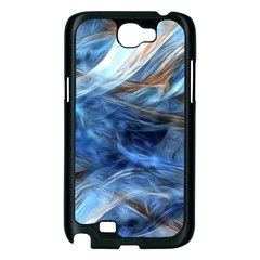 Blue Colorful Abstract Design  Samsung Galaxy Note 2 Case (Black)