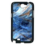 Blue Colorful Abstract Design  Samsung Galaxy Note 2 Case (Black) Front