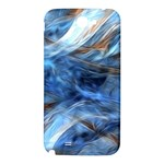 Blue Colorful Abstract Design  Samsung Note 2 N7100 Hardshell Back Case Front