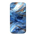 Blue Colorful Abstract Design  Samsung Galaxy S4 I9500/I9505  Hardshell Back Case Front