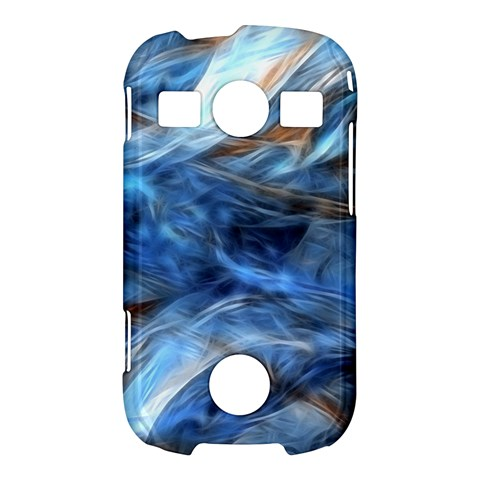 Blue Colorful Abstract Design  Samsung Galaxy S7710 Xcover 2 Hardshell Case