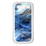 Blue Colorful Abstract Design  Samsung Galaxy S3 Back Case (White) Front