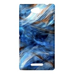 Blue Colorful Abstract Design  Sony Xperia C (S39H)