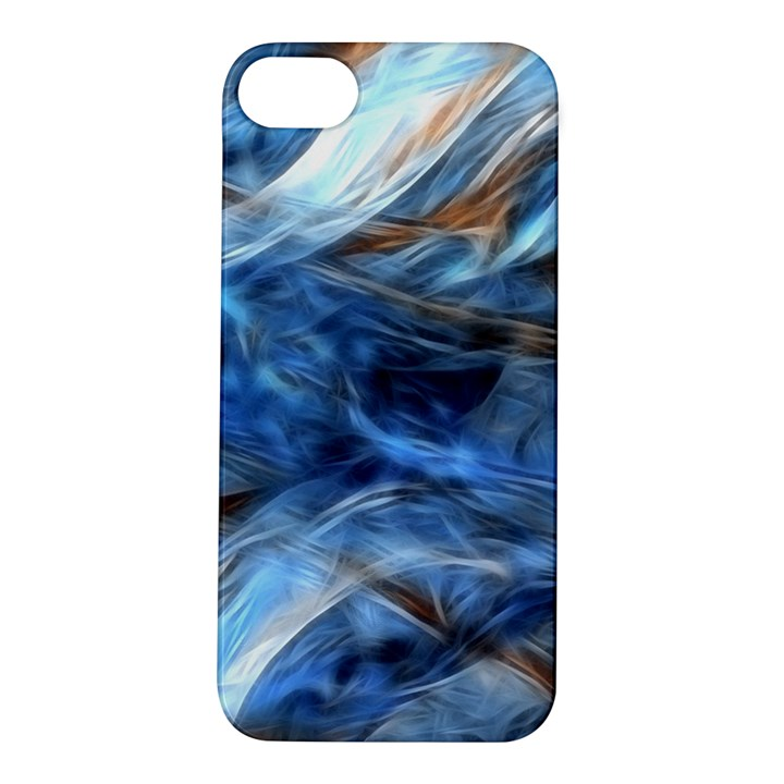 Blue Colorful Abstract Design  Apple iPhone 5S/ SE Hardshell Case