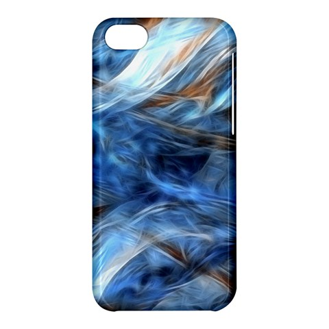 Blue Colorful Abstract Design  Apple iPhone 5C Hardshell Case