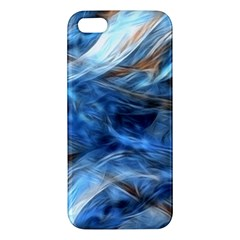 Blue Colorful Abstract Design  iPhone 5S/ SE Premium Hardshell Case