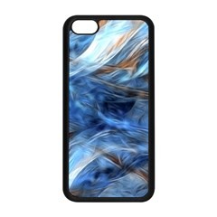 Blue Colorful Abstract Design  Apple Iphone 5c Seamless Case (black)