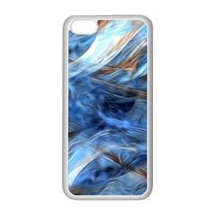 Blue Colorful Abstract Design  Apple Iphone 5c Seamless Case (white)