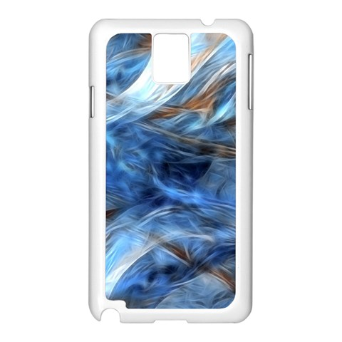 Blue Colorful Abstract Design  Samsung Galaxy Note 3 N9005 Case (White)