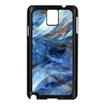 Blue Colorful Abstract Design  Samsung Galaxy Note 3 N9005 Case (Black) Front