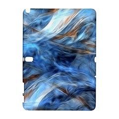Blue Colorful Abstract Design  Samsung Galaxy Note 10.1 (P600) Hardshell Case