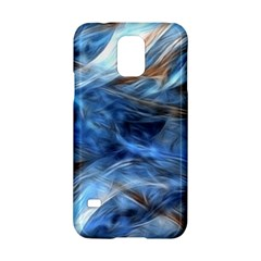 Blue Colorful Abstract Design  Samsung Galaxy S5 Hardshell Case