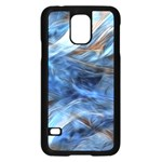 Blue Colorful Abstract Design  Samsung Galaxy S5 Case (Black) Front
