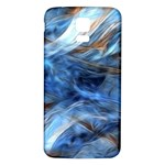 Blue Colorful Abstract Design  Samsung Galaxy S5 Back Case (White) Front