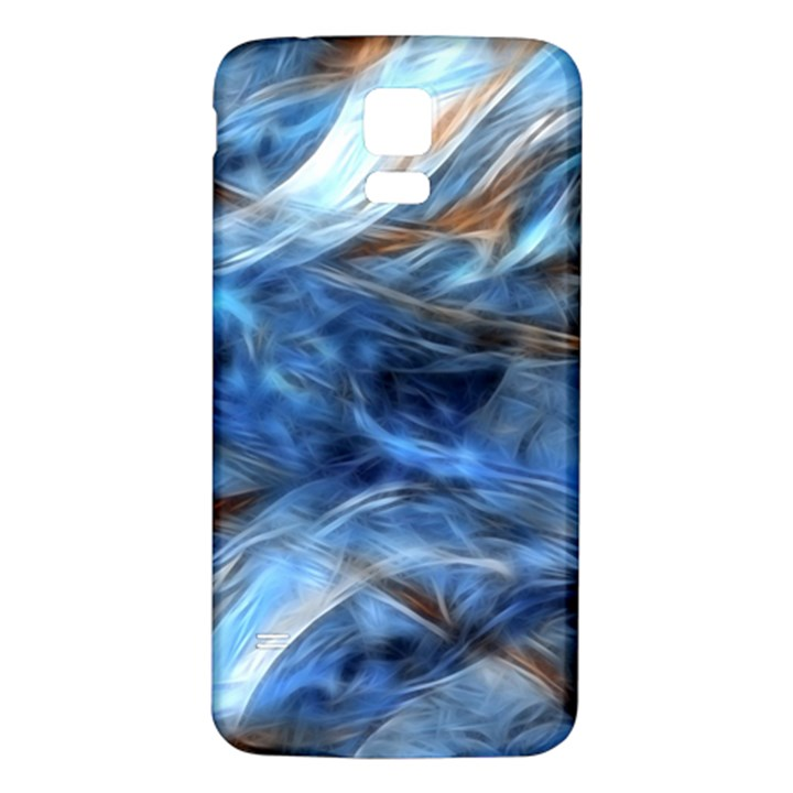 Blue Colorful Abstract Design  Samsung Galaxy S5 Back Case (White)