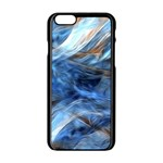 Blue Colorful Abstract Design  Apple iPhone 6/6S Black Enamel Case Front