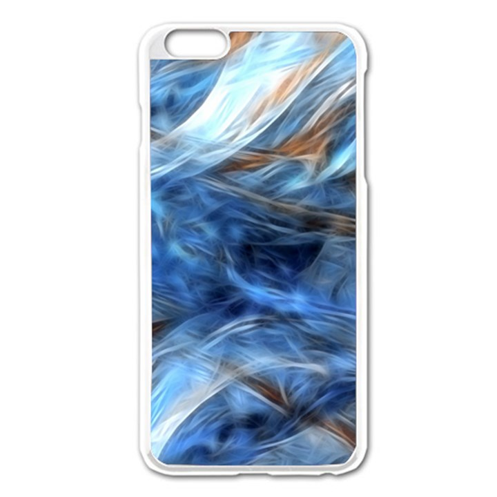 Blue Colorful Abstract Design  Apple iPhone 6 Plus/6S Plus Enamel White Case