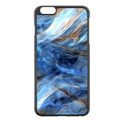 Blue Colorful Abstract Design  Apple Iphone 6 Plus/6s Plus Black Enamel Case