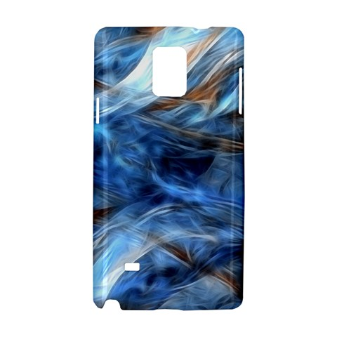 Blue Colorful Abstract Design  Samsung Galaxy Note 4 Hardshell Case