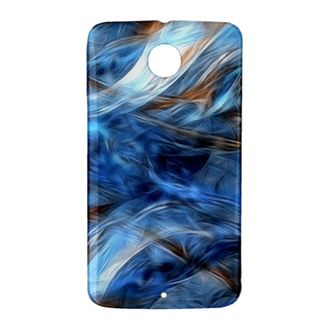 Blue Colorful Abstract Design  Nexus 6 Case (White)
