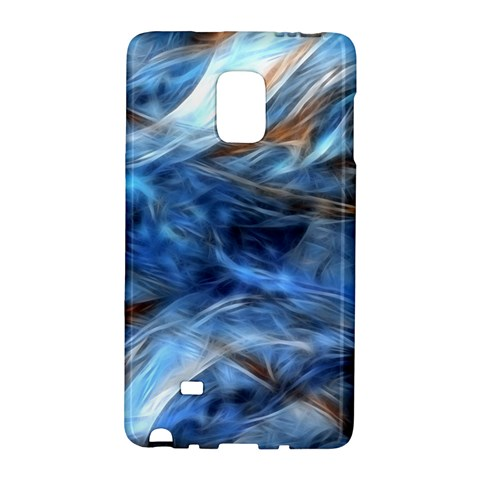 Blue Colorful Abstract Design  Galaxy Note Edge