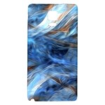 Blue Colorful Abstract Design  Galaxy Note 4 Back Case Front