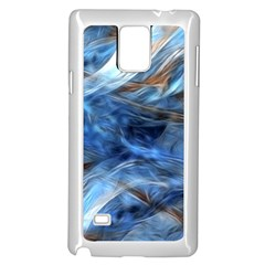 Blue Colorful Abstract Design  Samsung Galaxy Note 4 Case (white)