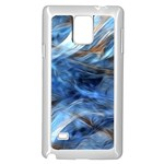 Blue Colorful Abstract Design  Samsung Galaxy Note 4 Case (White) Front
