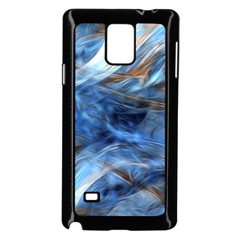 Blue Colorful Abstract Design  Samsung Galaxy Note 4 Case (Black)