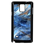 Blue Colorful Abstract Design  Samsung Galaxy Note 4 Case (Black) Front