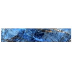 Blue Colorful Abstract Design  Flano Scarf (large)