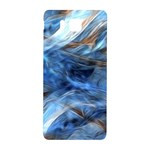 Blue Colorful Abstract Design  Samsung Galaxy Alpha Hardshell Back Case Front