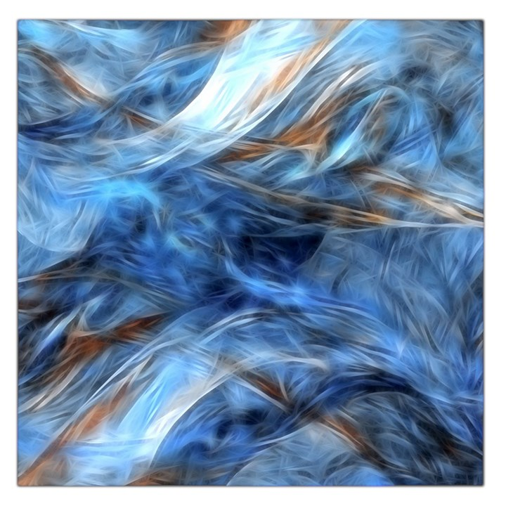 Blue Colorful Abstract Design  Large Satin Scarf (Square)