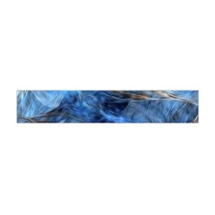 Blue Colorful Abstract Design  Flano Scarf (mini)