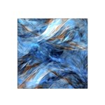 Blue Colorful Abstract Design  Satin Bandana Scarf Front