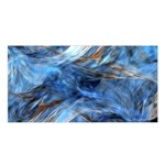 Blue Colorful Abstract Design  Satin Shawl Front