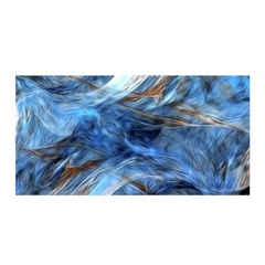 Blue Colorful Abstract Design  Satin Wrap