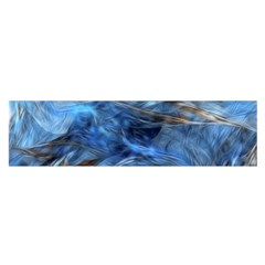 Blue Colorful Abstract Design  Satin Scarf (oblong)