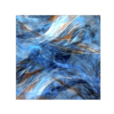 Blue Colorful Abstract Design  Small Satin Scarf (Square)