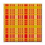 Check Pattern Tile Coasters Front