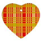 Check Pattern Ornament (Heart)  Front