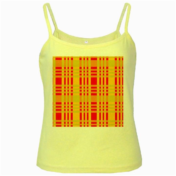 Check Pattern Yellow Spaghetti Tank