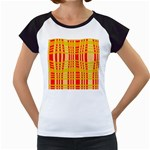 Check Pattern Women s Cap Sleeve T Front