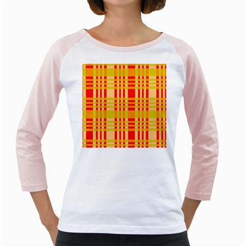 Check Pattern Girly Raglans
