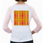 Check Pattern Girly Raglans Back