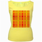 Check Pattern Women s Yellow Tank Top Front