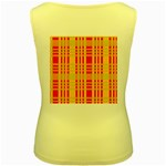 Check Pattern Women s Yellow Tank Top Back
