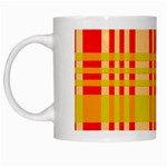 Check Pattern White Mugs Left