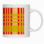 Check Pattern White Mugs Right